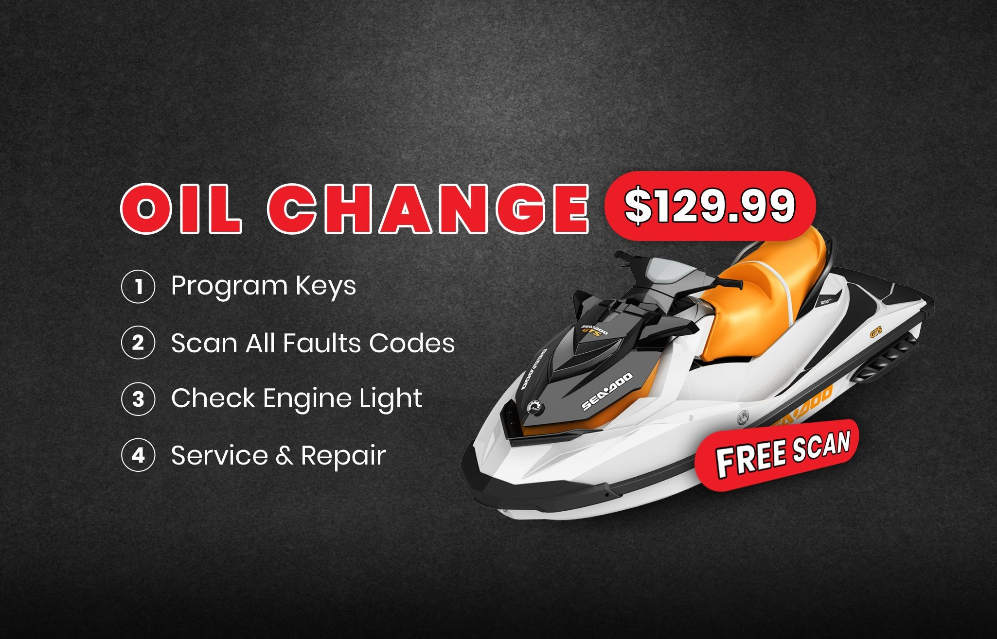 jetski seado tuneup oil chane repair tampa